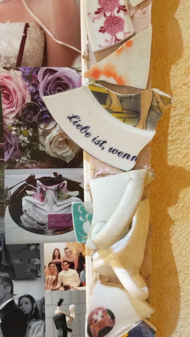 Hochzeitsgeschenk DIY – Polterabend Bilderrahmen   Flying Daddy George